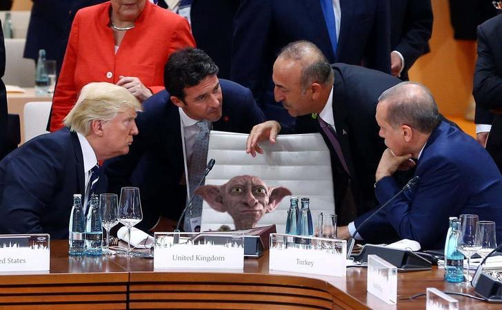 Фото №6 - Масштаб личности: лучшие шутки о прифотошопленном Путине на саммите G20