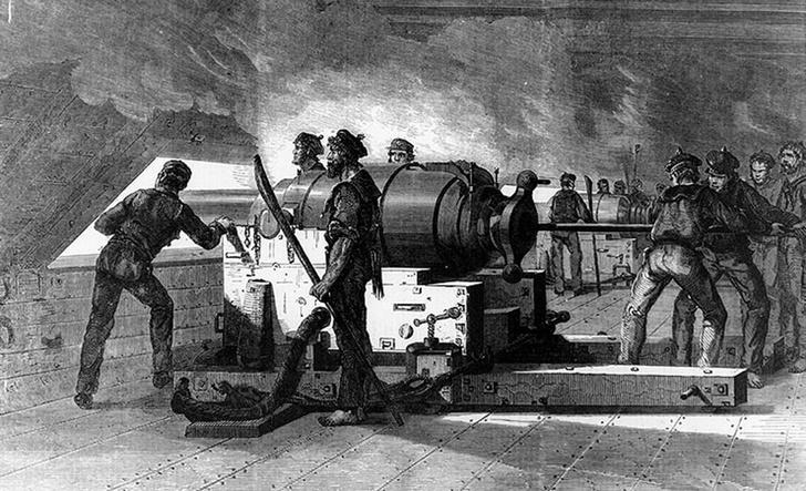 «Мерримак», гравюра 1862 года