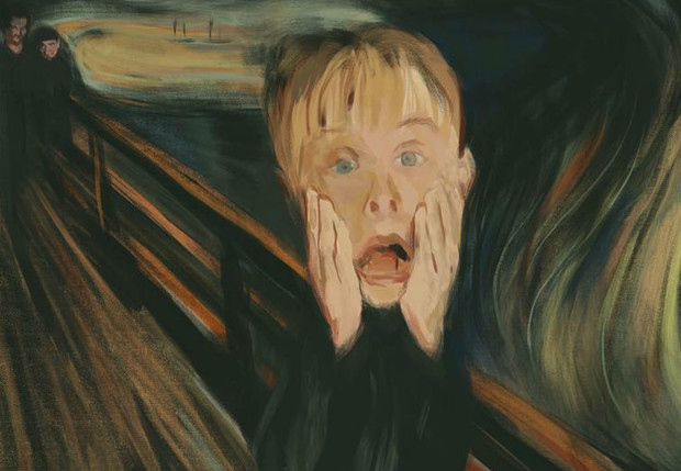 Фото №1 - Самые смешные пародии на «Крик» Мунка, участвующие в конкурсе Adobe