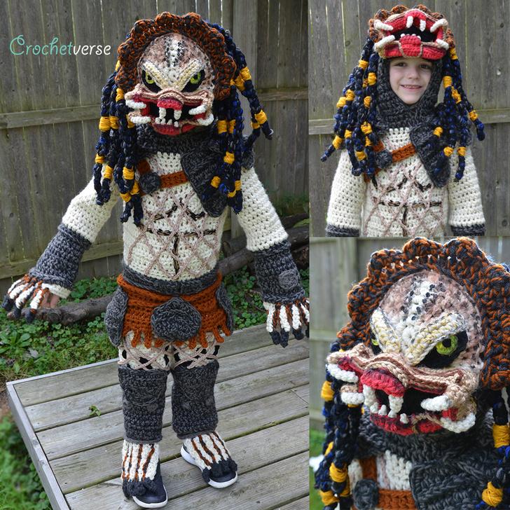 Фото №2 - Эффектно и уютно: костюм Хищника, целиком связанный из шерсти