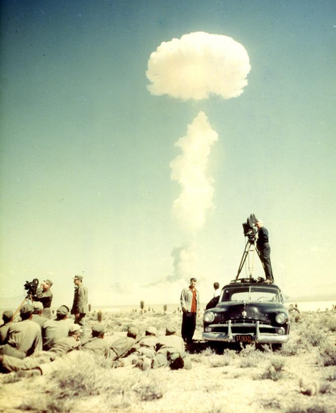 Съемки испытаний в Неваде, США