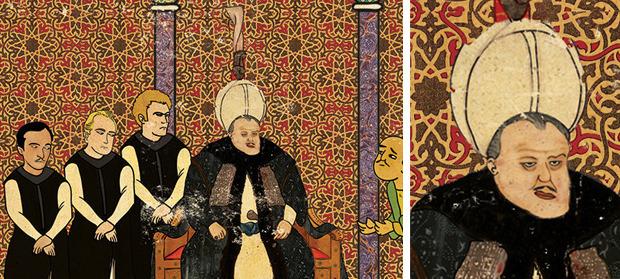 Фото №9 - Художник воссоздал культовые сцены из «Терминатора», «Чужого» и других фильмов в стиле восточных миниатюр
