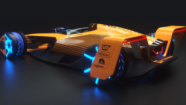 Фото №1 - Как будет выглядеть «Формула-1» в 2050 году по версии команды McLaren