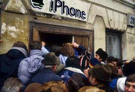Места в очереди за новым iPhone в России продают по 250 тысяч рублей