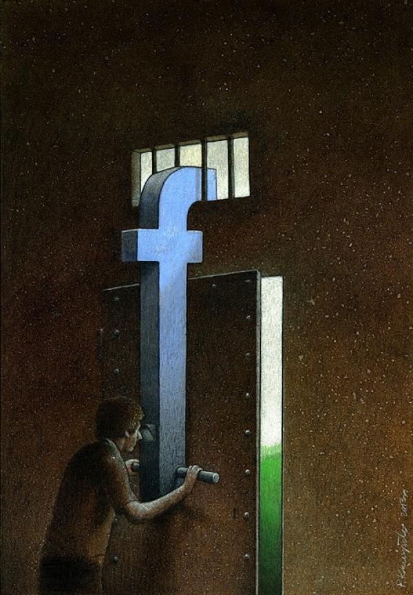 Фото №1 - Вся правда о «Фейсбуке» от карикатуриста Павла Кучински