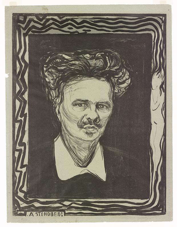 Портрет писателя Августа Стриндберга