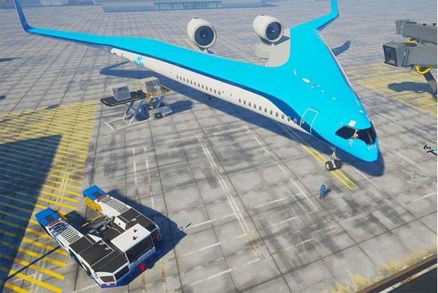 Фото №2 - Авиакомпания KLM показала концепт самолета типа «летающее крыло» и даже грозится тестовыми полетами в этом году (видео)