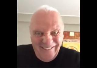 Шутливое видео Энтони Хопкинса напугало Интернет!
