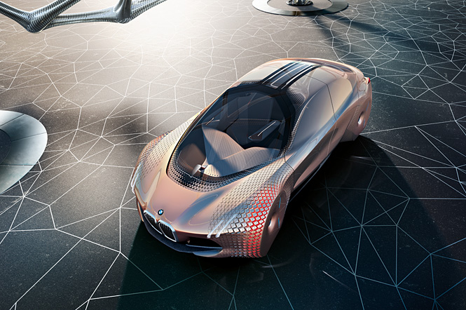 BMW Vision Next 100 вид сверху