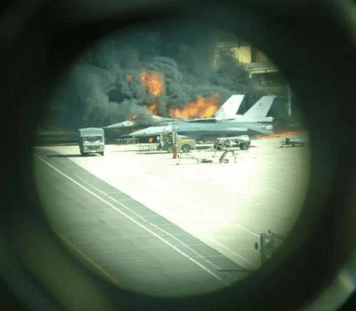 Фото №3 - Бельгийский F-16 случайно расстрелял другой F-16 на аэродроме
