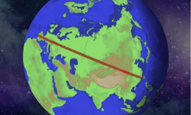 Угадай, как далеко можно пойти по прямой, никуда не сворачивая?