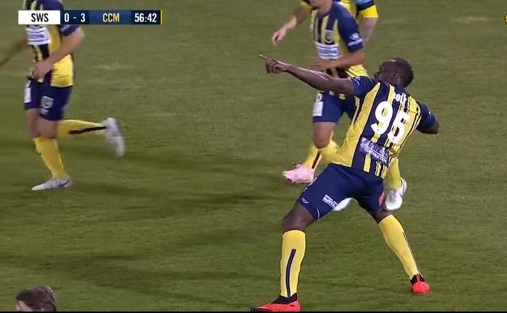 Фото №1 - Первые голы Усейна Болта в профессиональном футболе (видео). Спойлер: они крутые