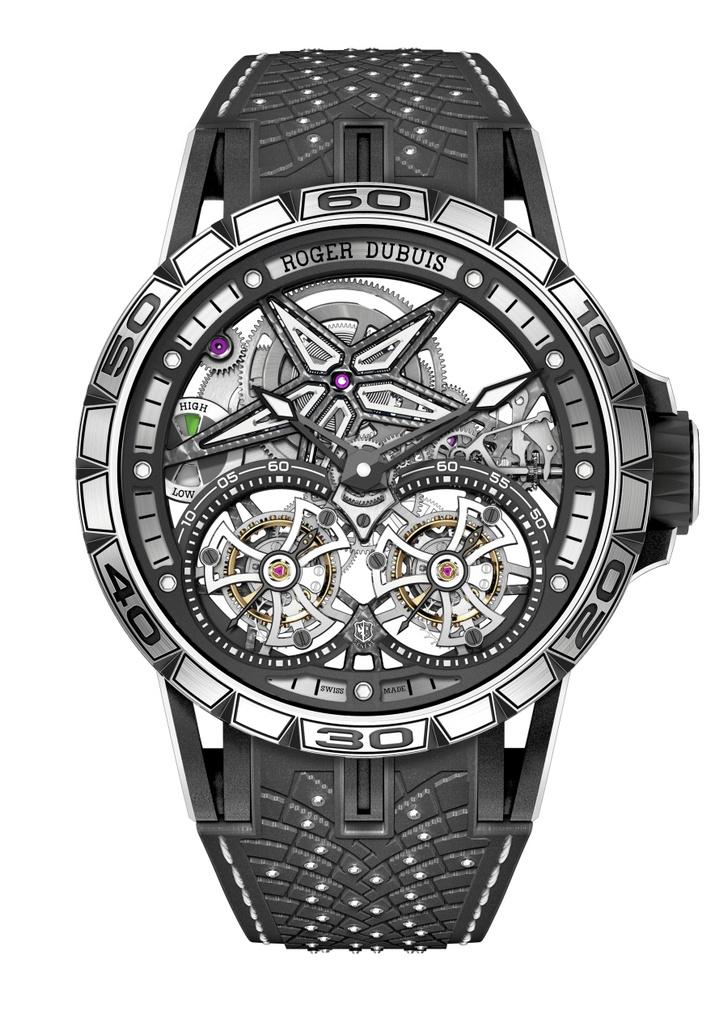 Фото №2 - Новые зимние шины Pirelli вдохновили Roger Dubuis на создание шипованных часов