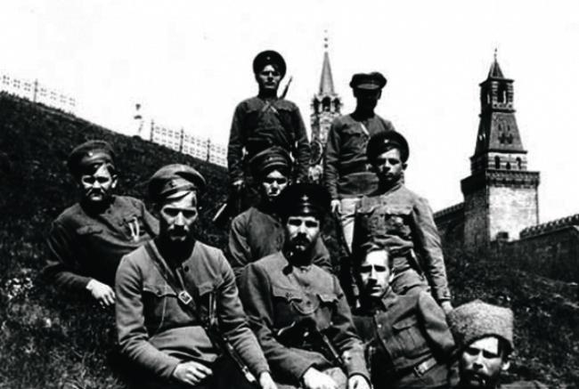 Латышские стрелки,  охранявшие Кремль