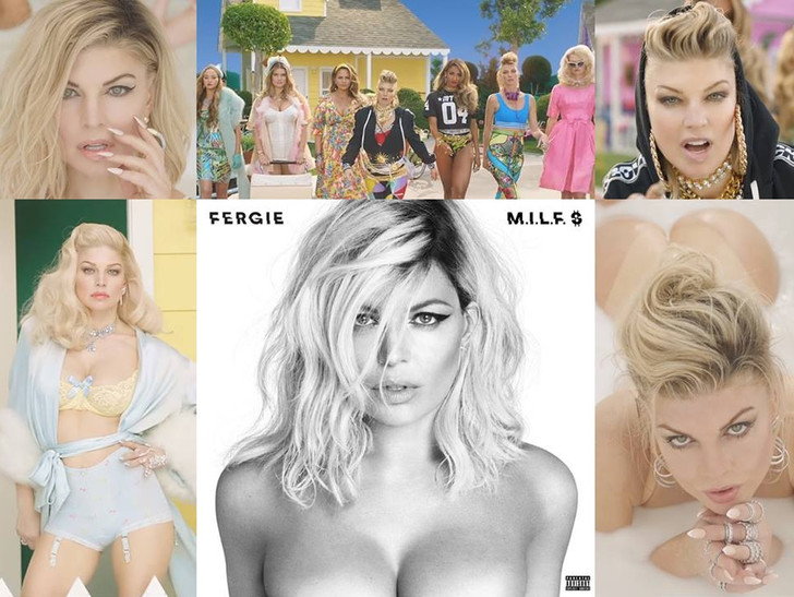 Фото №1 - В новом клипе Ферги самые горячие красотки категории МИЛФ поливают себя молоком!