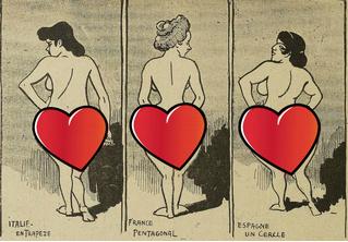 Попы Европы: как представляли себе женские попы жители Европы начала прошлого века
