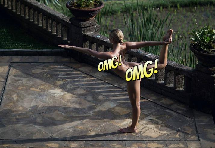 Фото №1 - Совершенно голая девушка занимается йогой! Пожалуй, самый умиротворяющий «Инстаграм» в мире