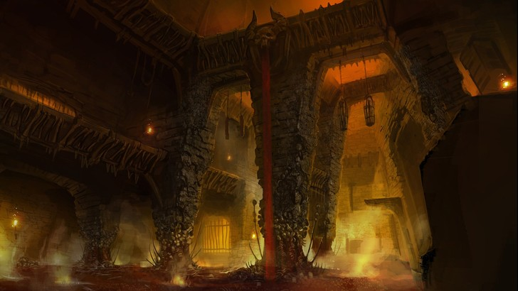 Фото №15 - Doom! Ад! Сатана! Дьявольски кровавые и эксклюзивные концепт-арты из грядущего игроужастика