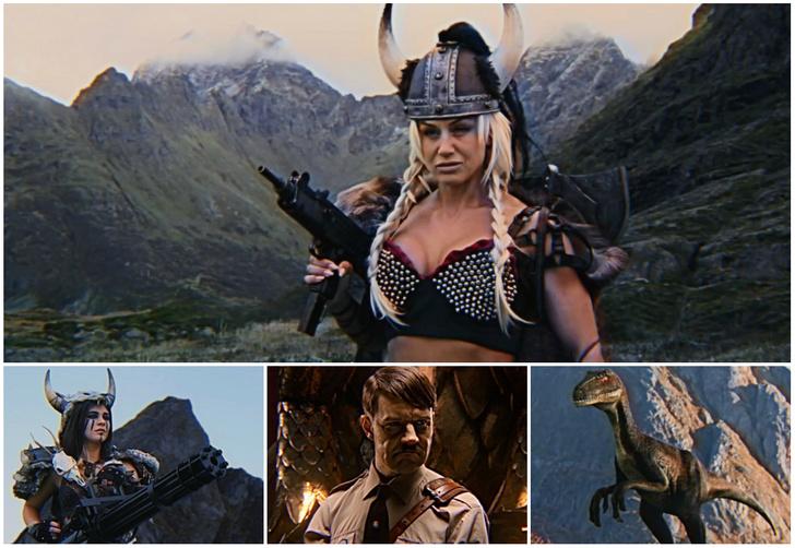 Фото №1 - Любительский фильм о Гитлере, викингах, роботах и динозаврах покорил пользователей интернета