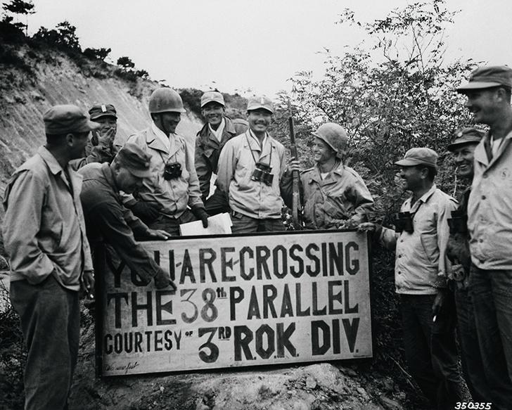 Солдаты ООН на 38-й параллели. 1950 год