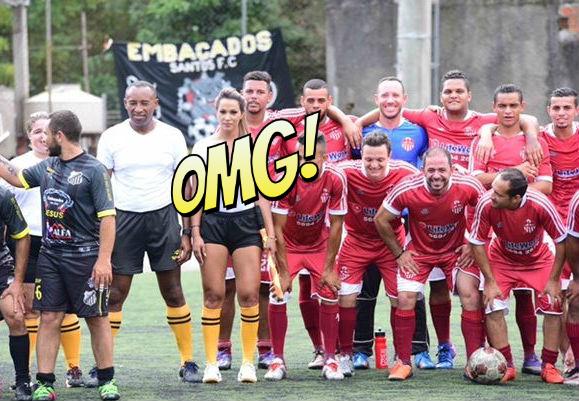 Фото №1 - Бразильская судья вышла на поле в мокрой прозрачной футболке!