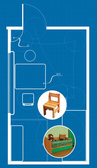 Фото №2 - 6 правил удобной детской комнаты