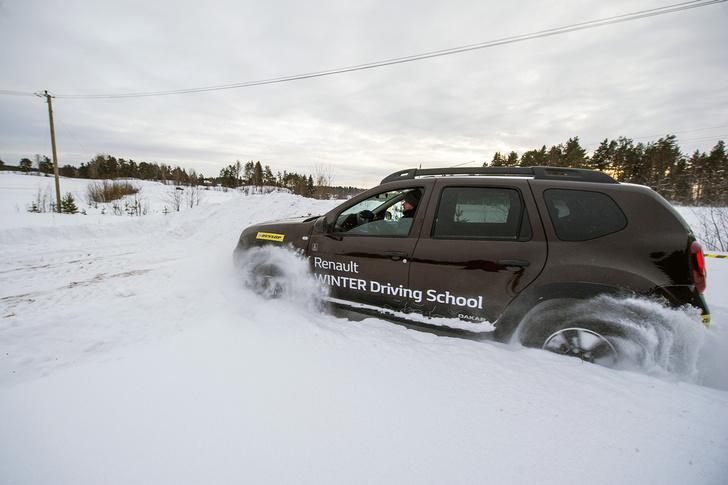 Фото №15 - Нефигурное катание: боком по льду на полноприводных Renault