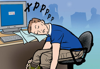Как незаметно спать на работе