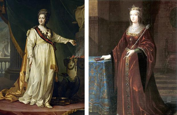 Екатерина II и Изабелла Кастильская