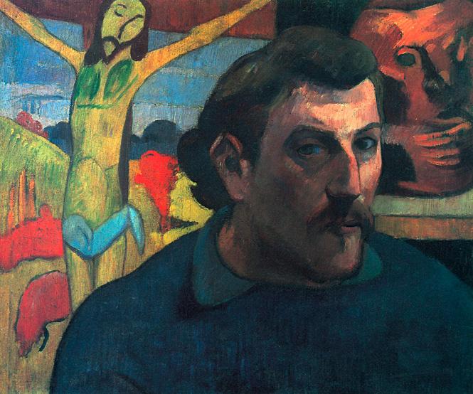 Поль Гоген, Автопортрет с желтым Христом