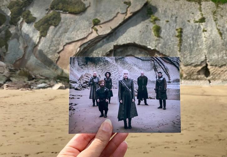 Фото №1 - Блогер совмещает кадры из фильмов с реальными местами съемок. Лучшие фото за год