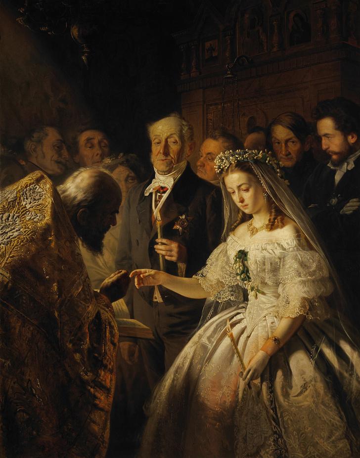 Фото №1 - Неожиданная история, стоящая за картиной «Неравный брак»