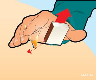 Фото №3 - Трюк: зажечь спичку одной рукой