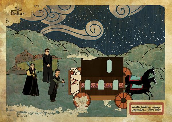 Фото №19 - Художник воссоздал культовые сцены из «Терминатора», «Чужого» и других фильмов в стиле восточных миниатюр