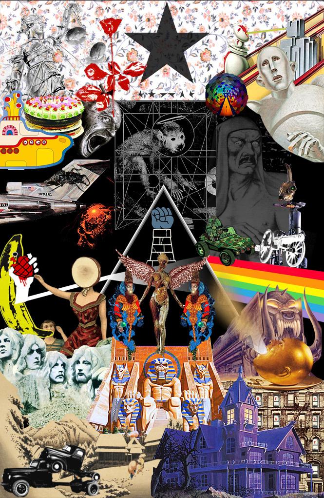 Супер-рок-ребус! Угадай 33 знаменитых альбома в одной картинке!