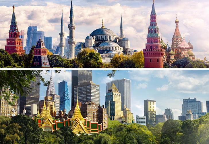 Фото №1 - Москвабул и Банг-Йорк: русско-британско-литовские мэшапы про мегаполисы мира
