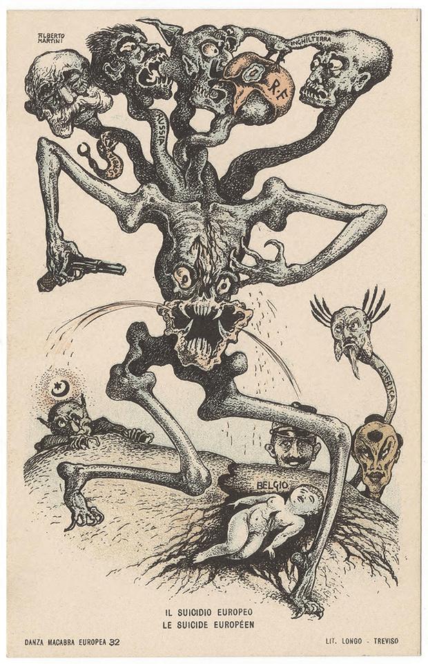 Фото №3 - Жутковатые карикатуры Первой мировой