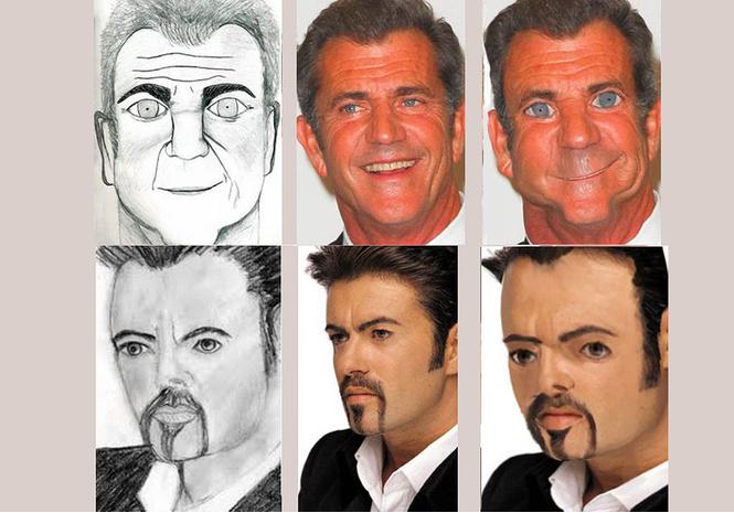 выглядели знаменитости похожи портреты нарисованные фанатами