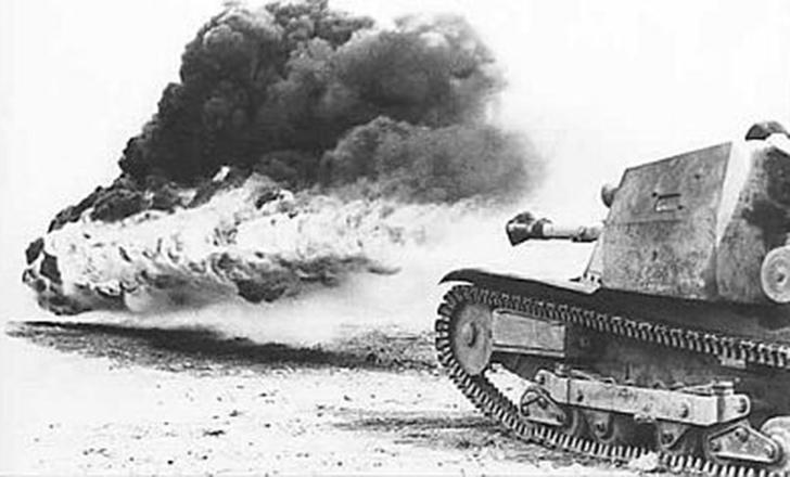 Огнеметная итальянская танкетка