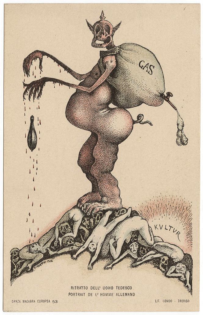 Фото №23 - Жутковатые карикатуры Первой мировой