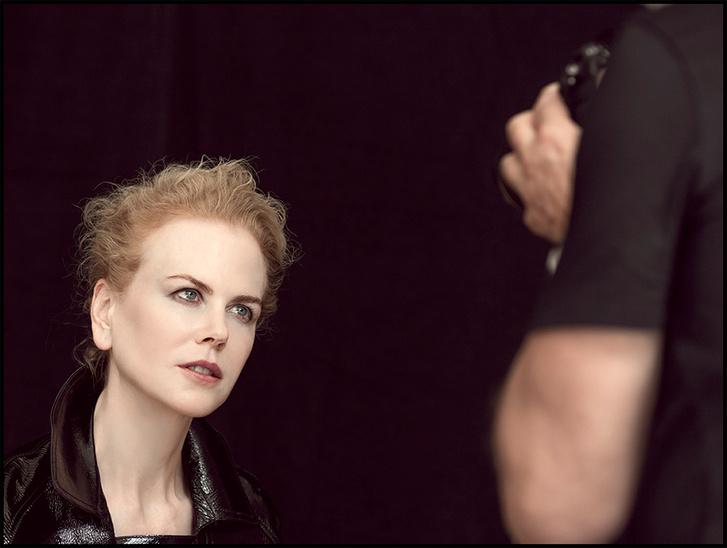 Николь Кидман на съемке с Питером Линдбергом