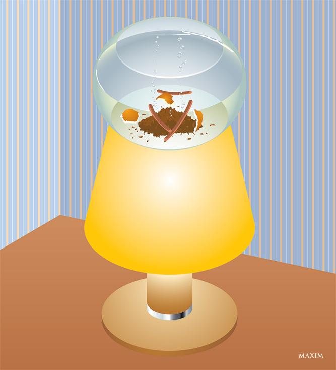 Лампа с запахом Нового года