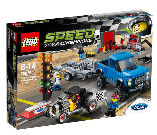 Lego Speed Champions Ford F-150 Raptor &Ford Model A Hot Rod