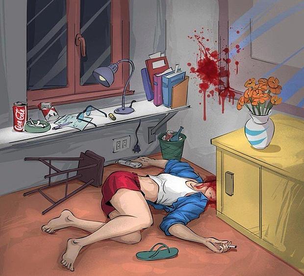 Фото №2 - Криминалистическая головоломка: что произошло на картинке?
