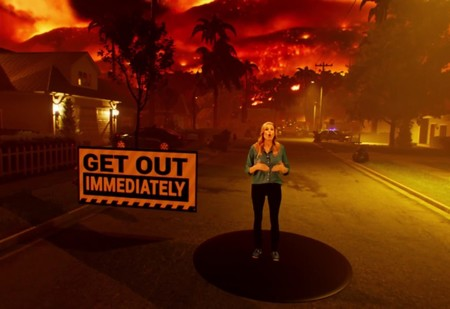 Американский телеканал наглядно показал, как распространяются лесные пожары (видео)