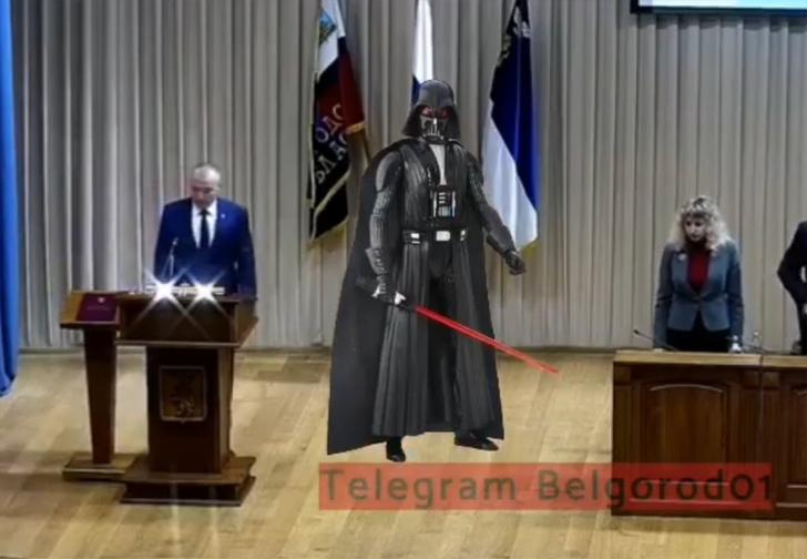 Фото №1 - Новый мэр Белгорода вышел принимать присягу под марш из «Звездных войн» (имперское видео)
