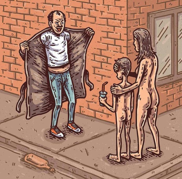 Фото №1 - Сатана, кровища и извращения: лучшие иллюстрации из журнала Nakid