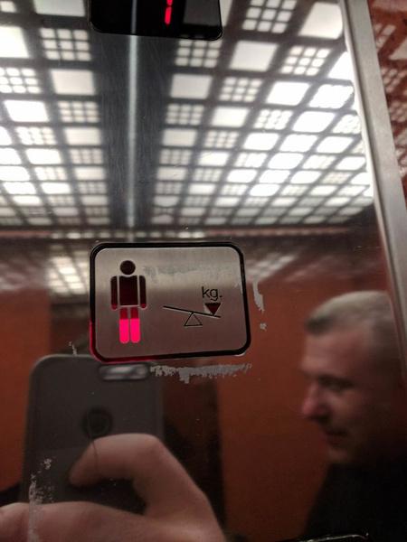 Индикатор веса пассажиров лифта