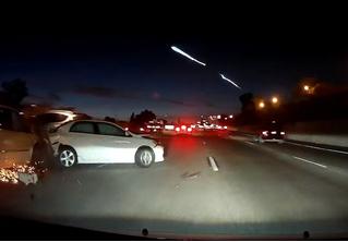Запуск Falcon 9 над Калифорнией: эпичное видео с регистратора!