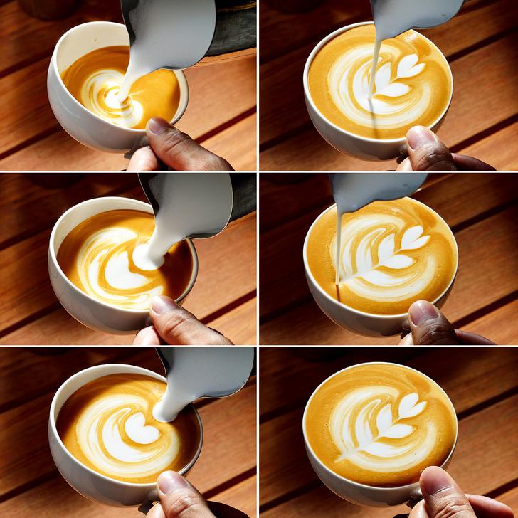 Фото №2 - Как рисовать на кофе: две главные техники: легкая и посложнее